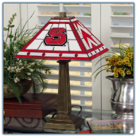 North Carolina State Wolfpack - Stained-Glass Mission-Style Table Lamp