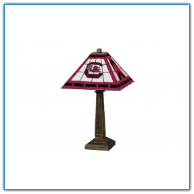 South Carolina Gamecocks - Stained-Glass Mission-Style Table Lamp
