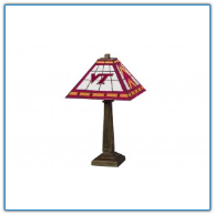Virginia Tech Hokies - Stained-Glass Mission-Style Table Lamp