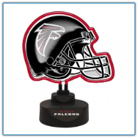 Atlanta Falcons - Neon Helmet & Cap Desk Lamp
