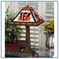 Cincinnati Bengals - Stained-Glass Mission-Style Table Lamp