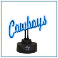 Dallas Cowboys- Neon Script Desk Lamp
