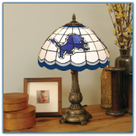Detroit Lions - Stained-Glass Tiffany-Style Table Lamp