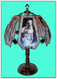 Black Stallion Horse Touch Lamp