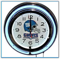 New York Giants Double Neon Clock