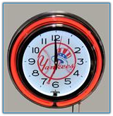 New York Yankees  Double Neon Clock