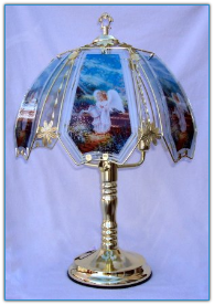 Angel With Watering Can Touch Lamp