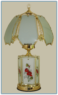 White Rose and Butterfly Upper and Lower Touch Lamp