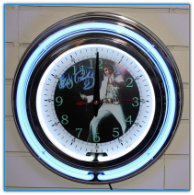 Elvis Presley Double Neon Clock