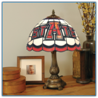 Arkansas State Red Wolves - Stained-Glass Tiffany-Style Table Lamp