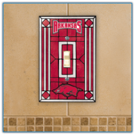 Arkansas Razorbacks - Single Art Glass Light Switch Cover