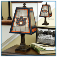 Auburn Tigers - Art Glass Table Lamp