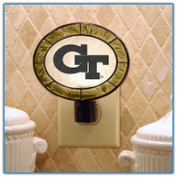 Georgia Tech Yellow Jackets - Art Glass Night Light