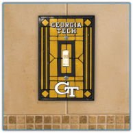 Georgia Tech Yellow Jackets - Single Art Glass Light Switch Cover