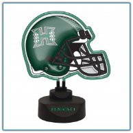 Hawaii Rainbow Warriors - Neon Helmet & Cap Desk Lamp