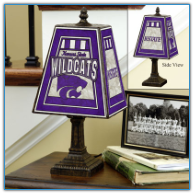 Kansas State Wildcats - Art Glass Table Lamp