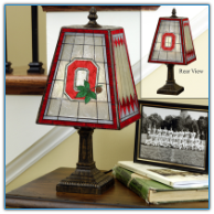 Ohio State Buckeyes - Art Glass Table Lamp
