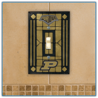 Purdue Boilermakers - Single Art Glass Light Switch Cover