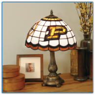 Purdue Boilermakers - Stained-Glass Tiffany-Style Table Lamp