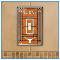 Texas Longhorns - Single Art Glass Light Switch Cover