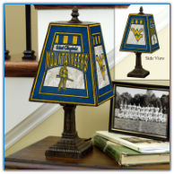 West Virginia Mountaineers - Art Glass Table Lamp
