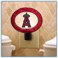 Anaheim Angels - Art Glass Night Light