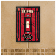 Arizona Diamondbacks - Single Art Glass Light Switch Cover