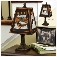 Baltimore Orioles - Art Glass Table Lamp