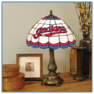 Cleveland Indians - Stained-Glass Tiffany-Style Table Lamp