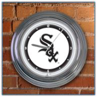 Chicago White Sox - Neon Light Wall Clock