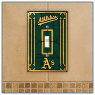 Oakland Athletics - Single Art Glass Light Switch Cover