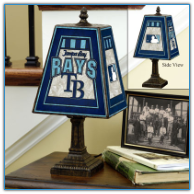 Tampa Bay Devil Rays - Art Glass Table Lamp