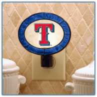 Texas Rangers - Art Glass Night Light