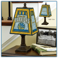 Golden State Warriors - Art Glass Table Lamp