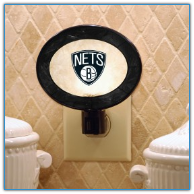 Brooklyn Nets - Art Glass Night Light