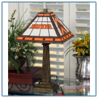 Cleveland Browns - Stained-Glass Mission-Style Table Lamp
