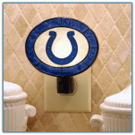 Indianapolis Colts - Art Glass Night Light