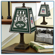 New York Jets - Art Glass Table Lamp