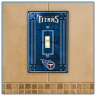 Tennessee Titans - Single Art Glass Light Switch Cover