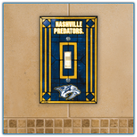 Nashville Predators - Single Art Glass Light Switch Cover
