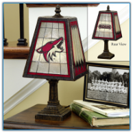 Arizona Coyotes - Art Glass Table Lamp