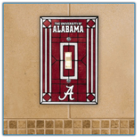 Alabama Crimson Tide - Single Art Glass  Light Switch Cover