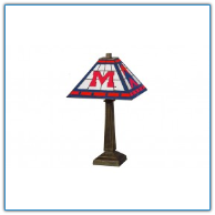 Mississippi Rebels - Stained-Glass Mission-Style Table Lamp