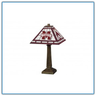 Mississippi State Bulldogs - Stained-Glass Mission-Style Table Lamp