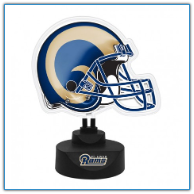 St. Louis Rams - Neon Helmet & Cap Desk Lamp