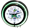 Notre Dame Fighting Irish Double Neon Clock