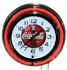 Red Coca Cola Double Neon Clock