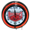 Arkansas Razorbacks Double Neon Clock
