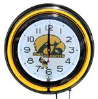 Iowa Hawkeyes Double Neon Clock