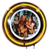 Wizard of OZ Yellow Double Neon Clock